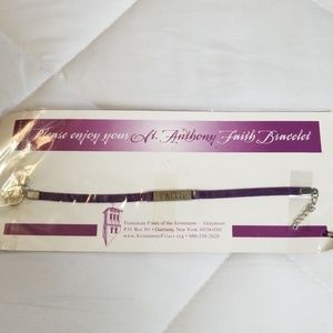 St. Anthony Faith Purple Carholic Bracelet